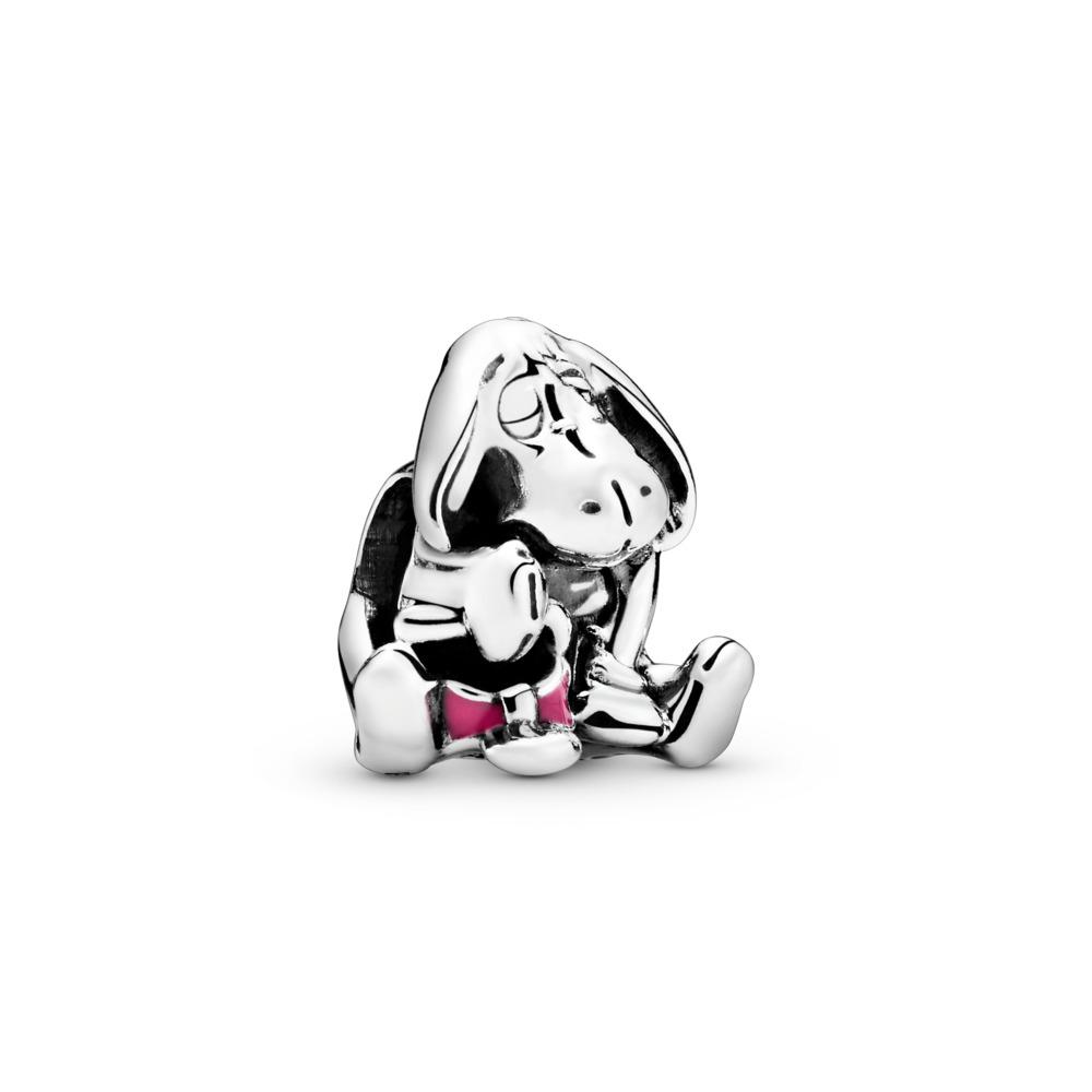 Disney Eeyore Winnie the Pooh Charm, Sterling silver, Enamel, Pink - PANDORA - #791567EN80