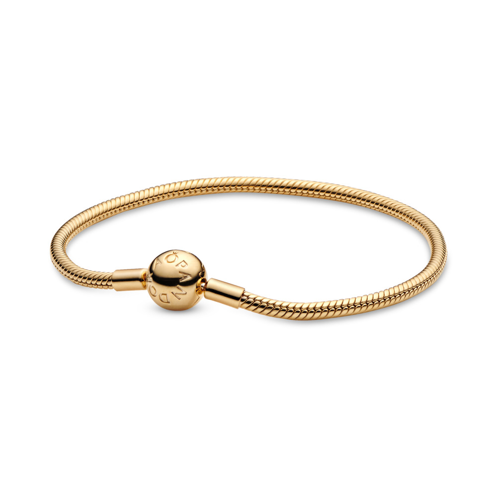 PANDORA Shine™ Smooth Bracelet, 18ct Gold Plated - PANDORA - #567107