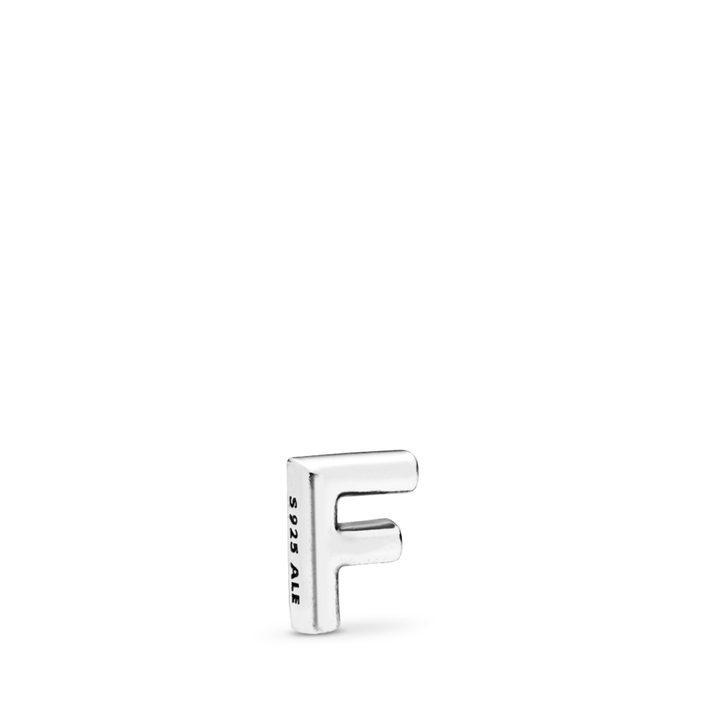 Letter F Petite Locket Charm, Sterling silver - PANDORA - #797323