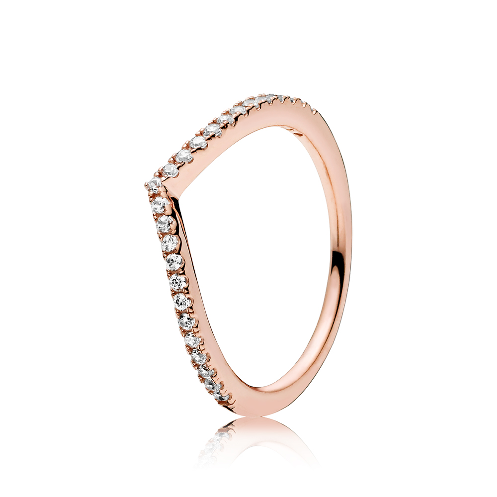 Shimmering Wish Ring, PANDORA Rose™ & Clear CZ