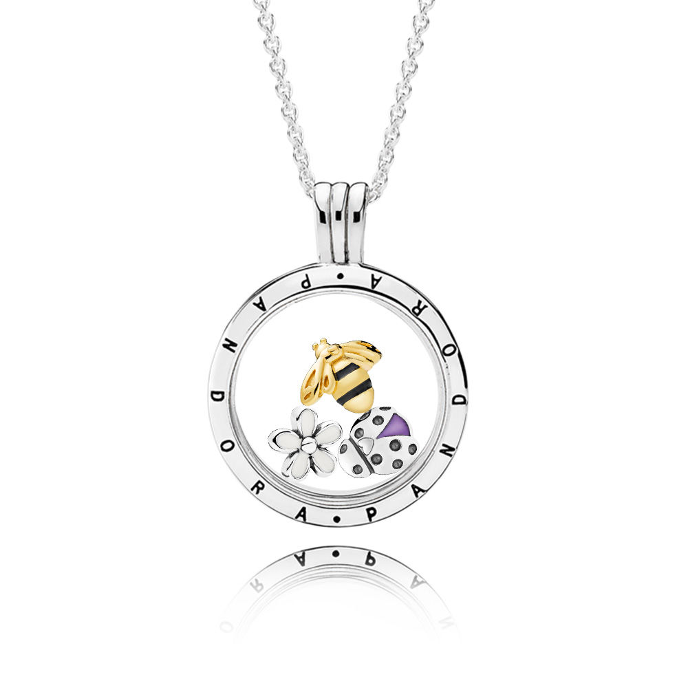 Magical Meadow PANDORA Locket Necklace Set, PANDORA Shine™ & Mixed Enamel