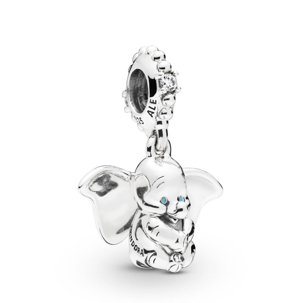 Disney, Dumbo Charm, Sterling silver, Enamel, Blue, Cubic Zirconia - PANDORA - #797849CZ