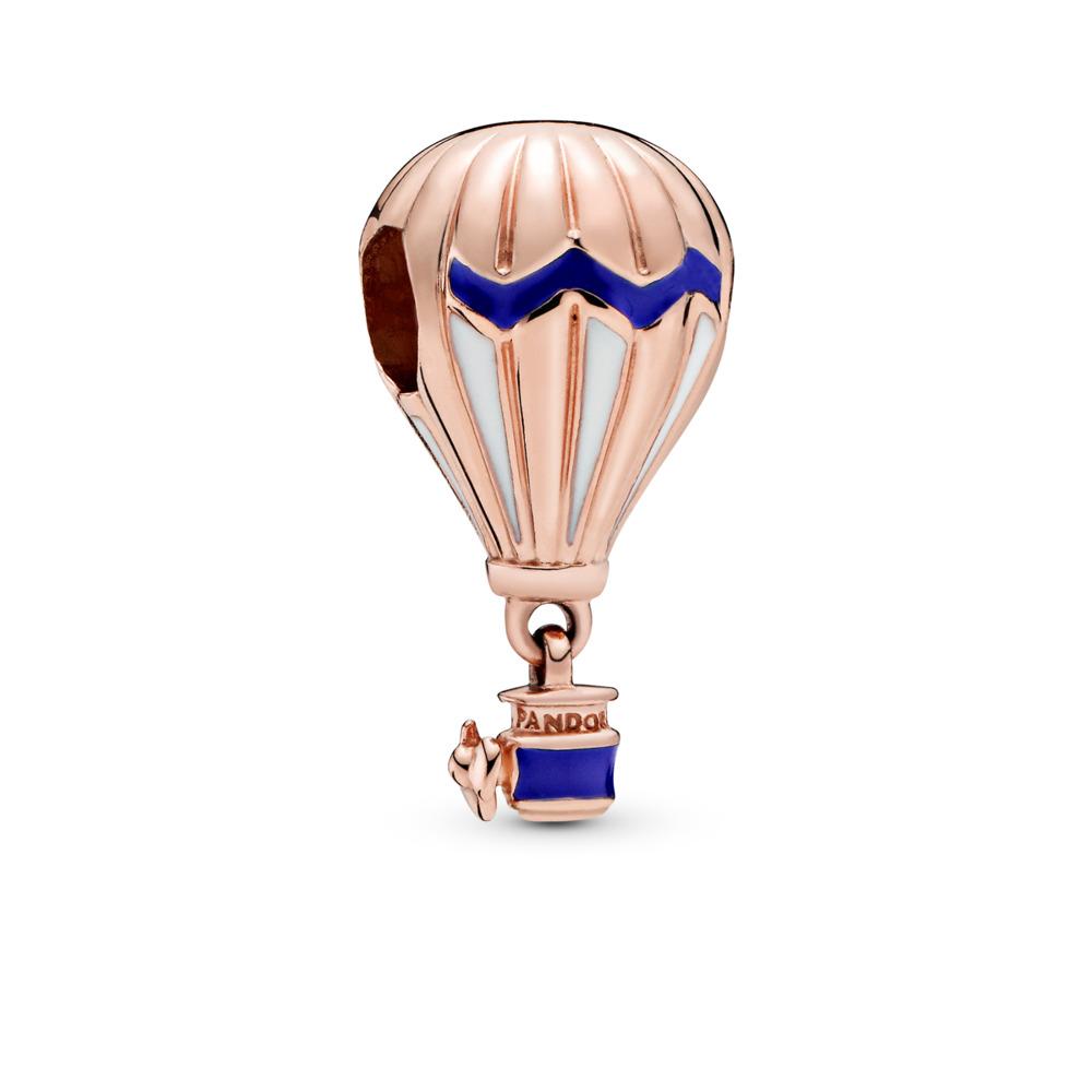 Blue Hot Air Balloon Charm, Pandora Rose™, PANDORA Rose, Enamel, Blue - PANDORA - #788055ENMX