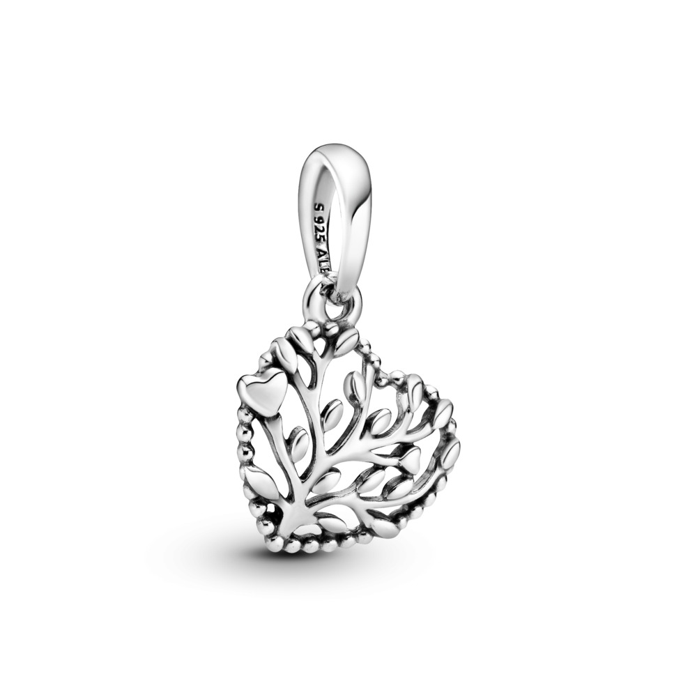 Flourishing Hearts Dangle Charm, Sterling silver - PANDORA - #797140