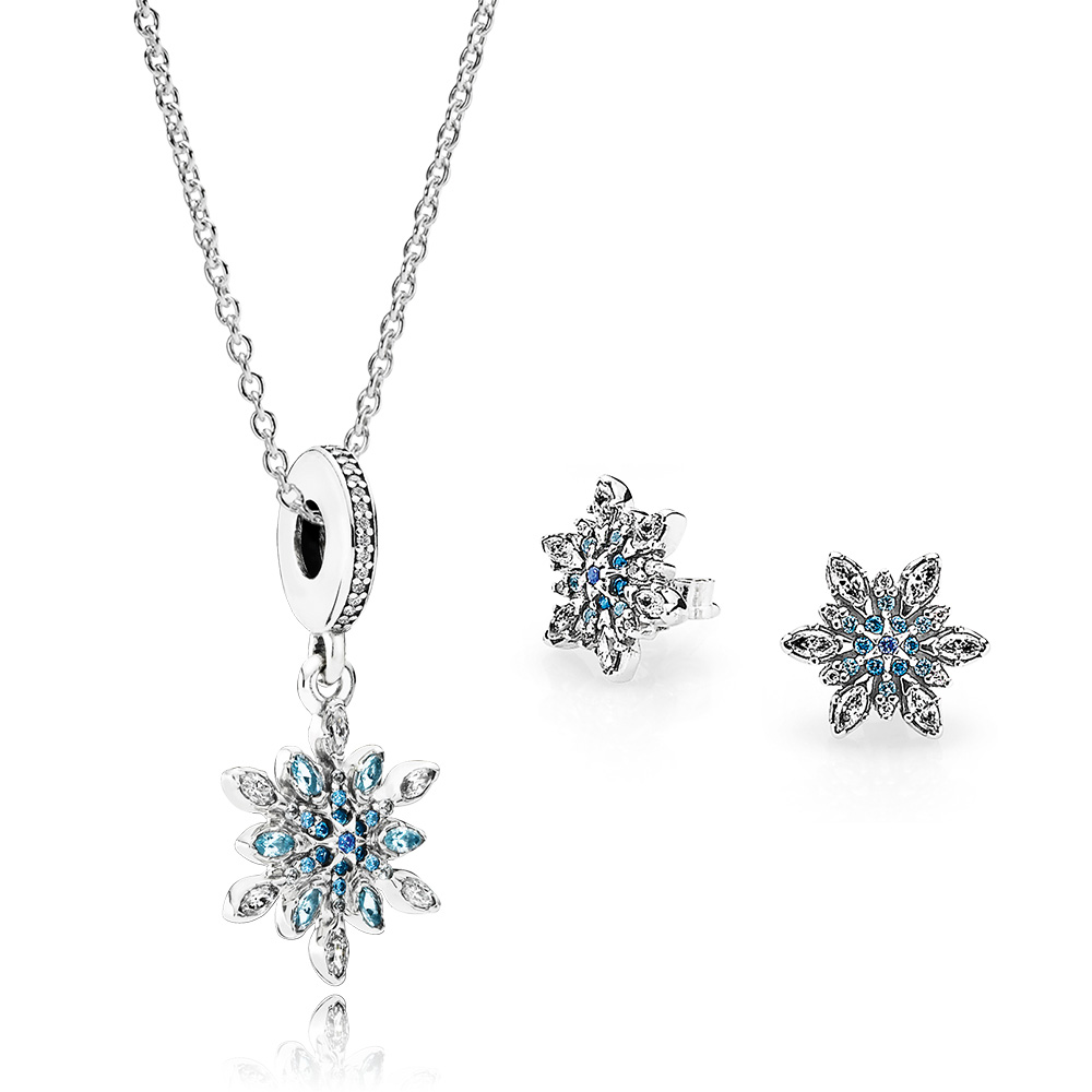 Crystalized Snowflakes Jewelry Set