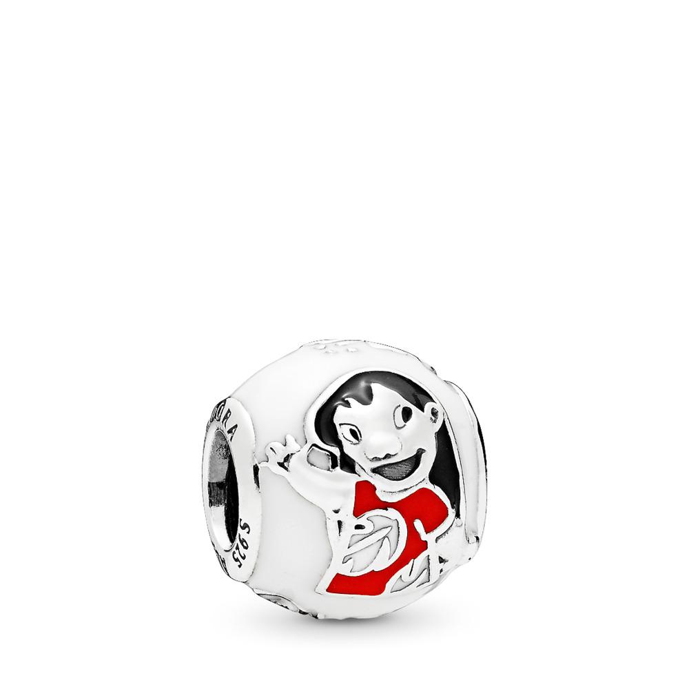 Disney, Lilo & Stitch Charm, Mixed Enamel, Sterling silver, Enamel, Black - PANDORA - #796338ENMX