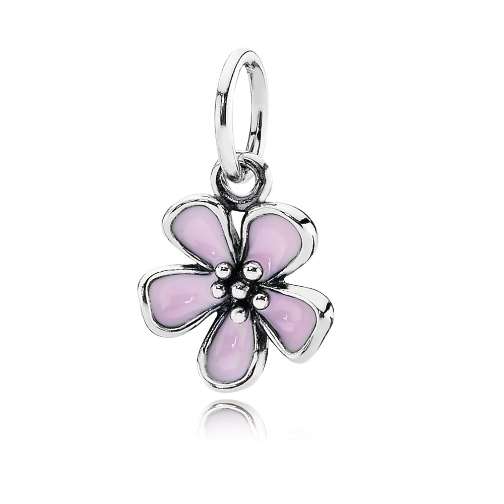 Cherry Blossom Pendant, Pink Enamel, Sterling silver, Enamel, Pink - PANDORA - #390347EN40