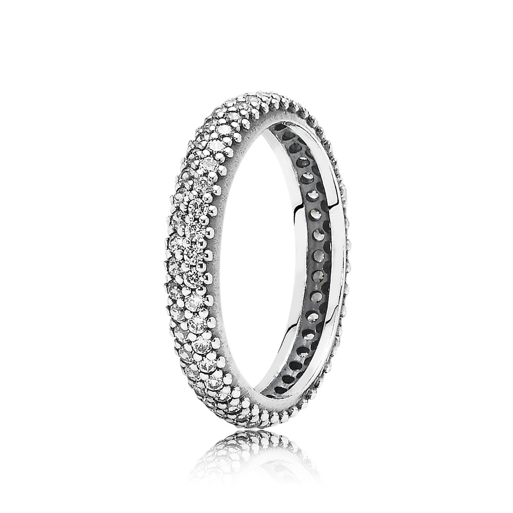 Inspiration Within Ring, Clear CZ, Sterling silver, Cubic Zirconia - PANDORA - #190909CZ