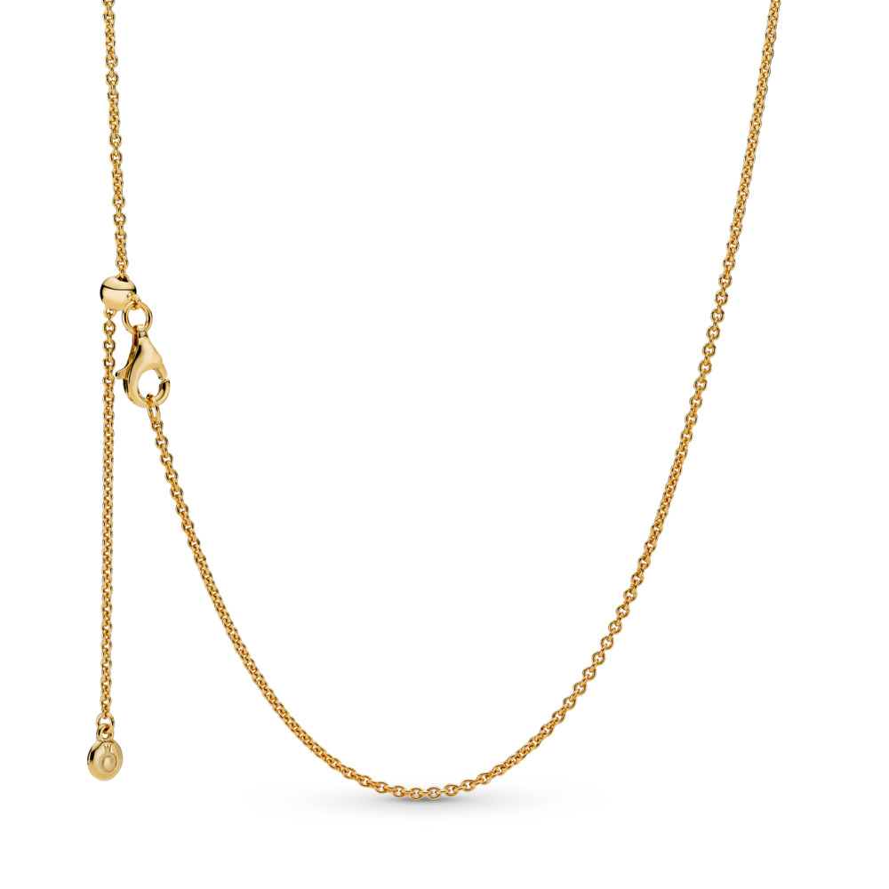 PANDORA Shine™ Necklace, 18ct Gold Plated, Silicone - PANDORA - #367080