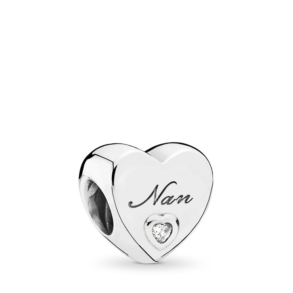 Nan's Love Charm, Clear CZ, Sterling silver, Cubic Zirconia - PANDORA - #797031CZ