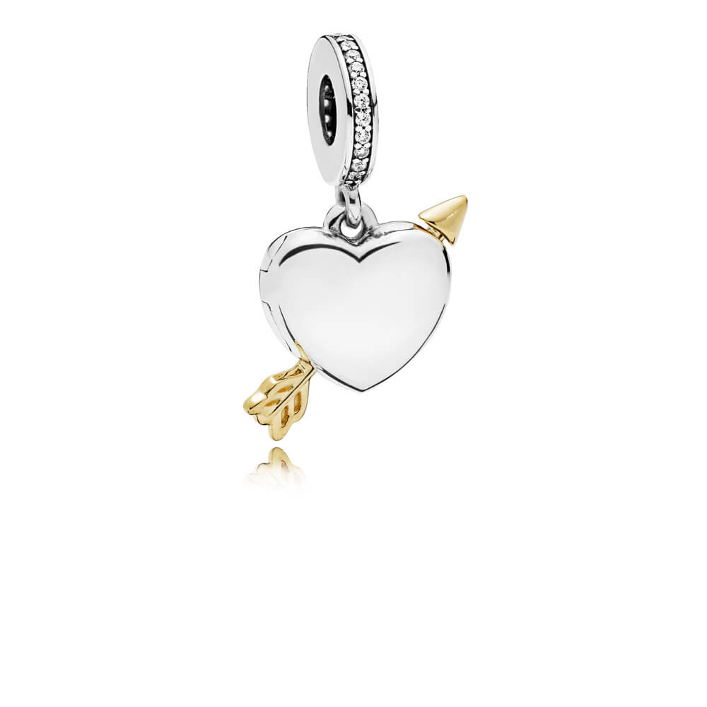 Limited Edition Arrow of Love Charm, Clear CZ, Sterling Silver, Cubic Zirconia - PANDORA - #B801113