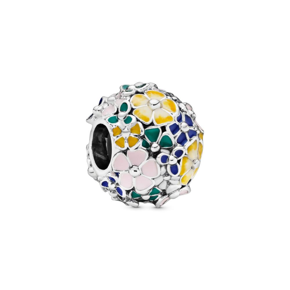 Classic Flower Arrangement Charm, Sterling silver, Enamel, Blue - PANDORA - #797907ENMX