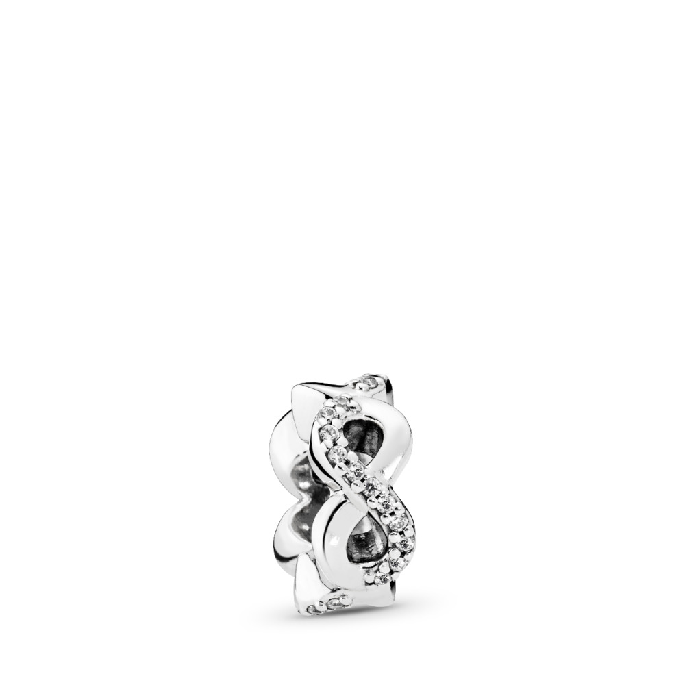 Infinite Love, Clear CZ, Sterling silver, Cubic Zirconia - PANDORA - #792101CZ