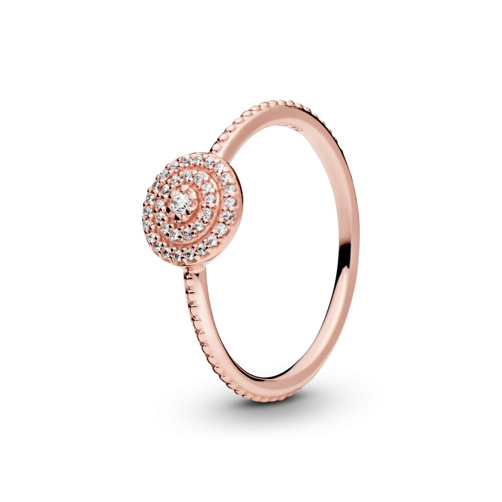 Radiant Elegance Ring, PANDORA Rose™ & Clear CZ, PANDORA Rose, Cubic Zirconia - PANDORA - #180986CZ