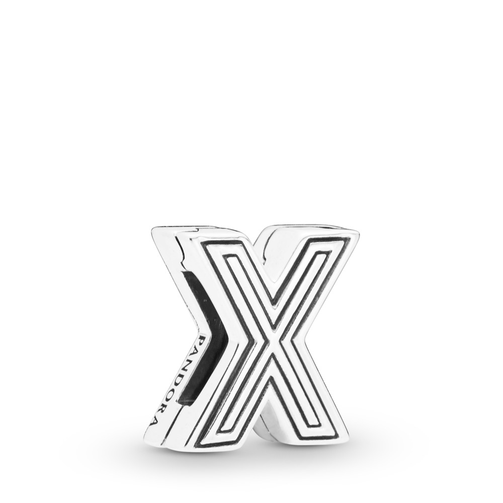 Pandora Reflexions™ Letter X Clip Charm, Sterling silver, Silicone - PANDORA - #798220