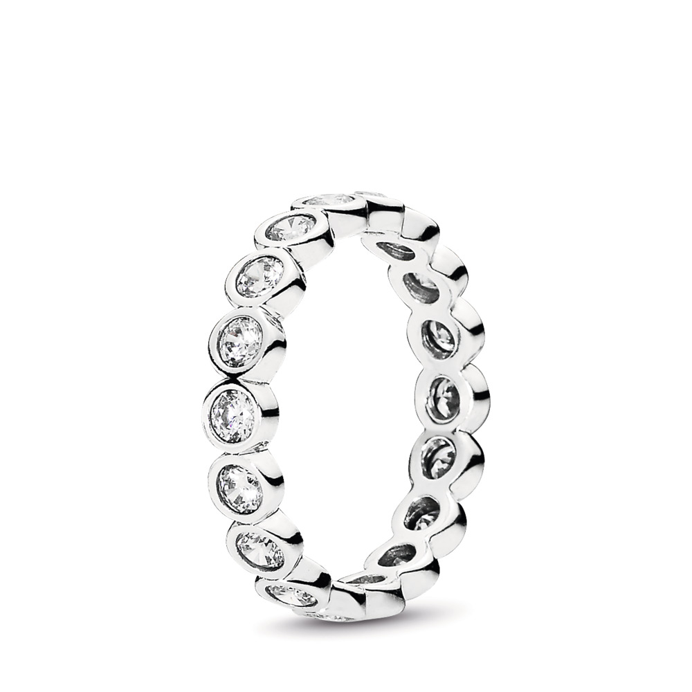 Alluring Brilliant Stackable Ring, Clear CZ, Sterling silver, Cubic Zirconia - PANDORA - #190942CZ