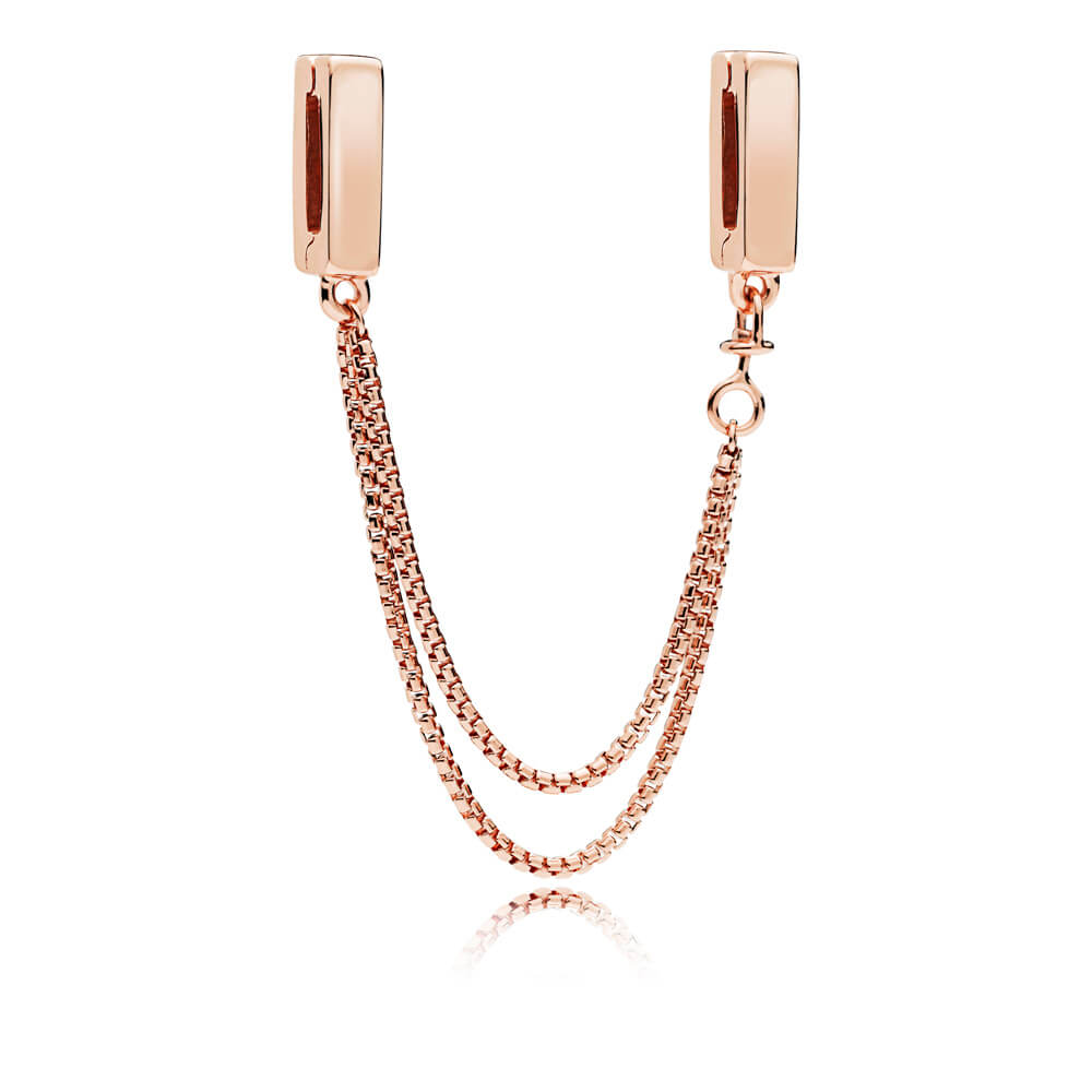 PANDORA Reflexions™ Floating Chains Safety Chain, PANDORA Rose™