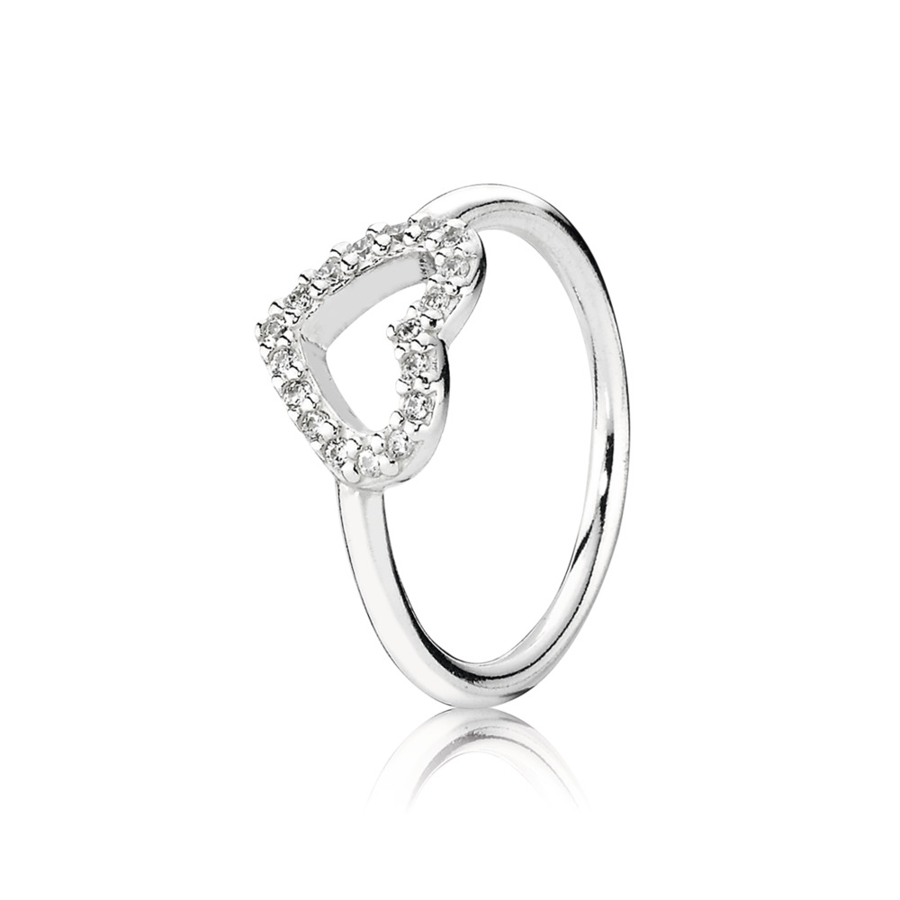 Be My Valentine Ring, Clear CZ, Sterling silver, Cubic Zirconia - PANDORA - #190861CZ