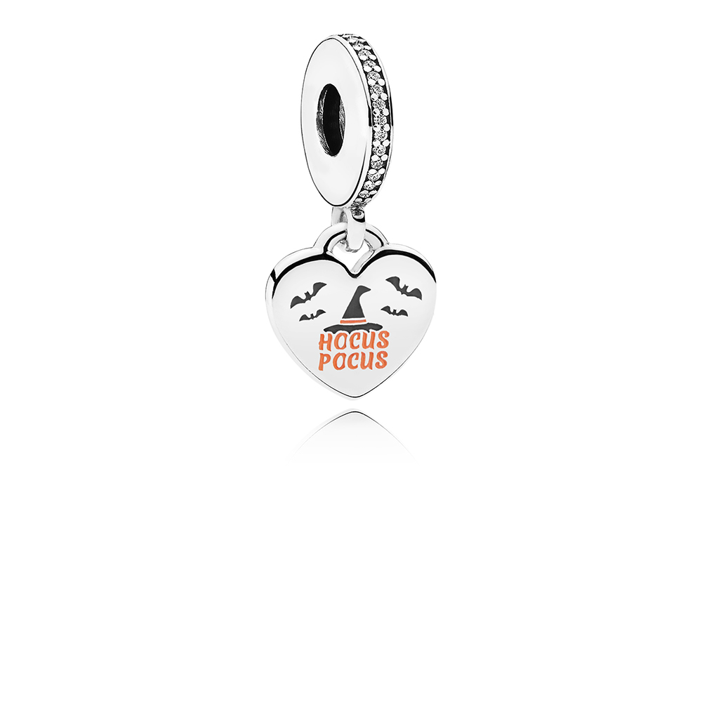 Hocus Pocus Dangle Charm, Mixed Enamel & Clear CZ