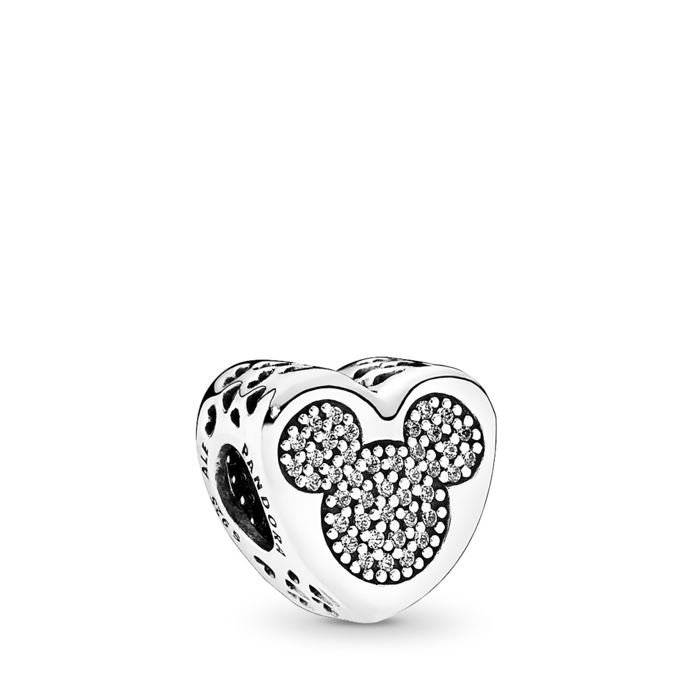 Disney, Mickey & Minnie True Love, Sterling silver, Cubic Zirconia - PANDORA - #792050CZ
