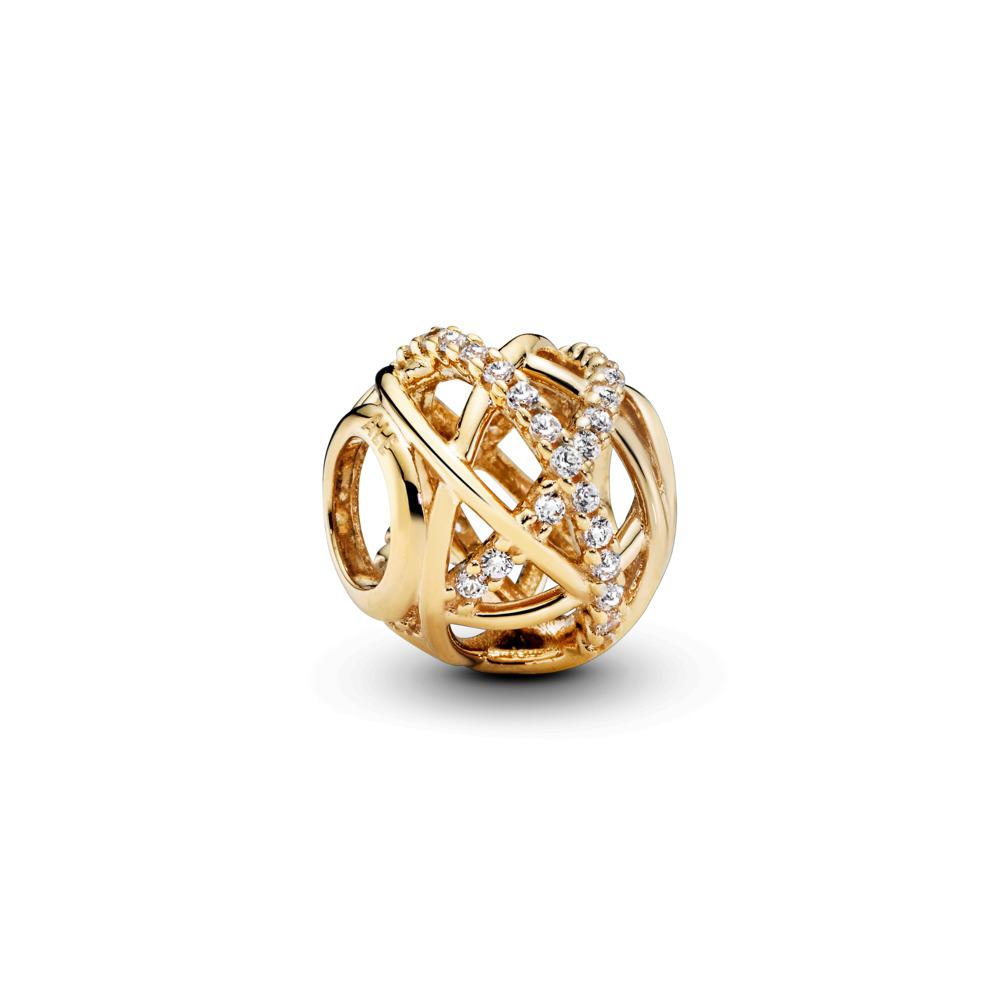 Galaxy Charm, Clear CZ & 14K Gold, Yellow Gold 14 k, Cubic Zirconia - PANDORA - #750827CZ