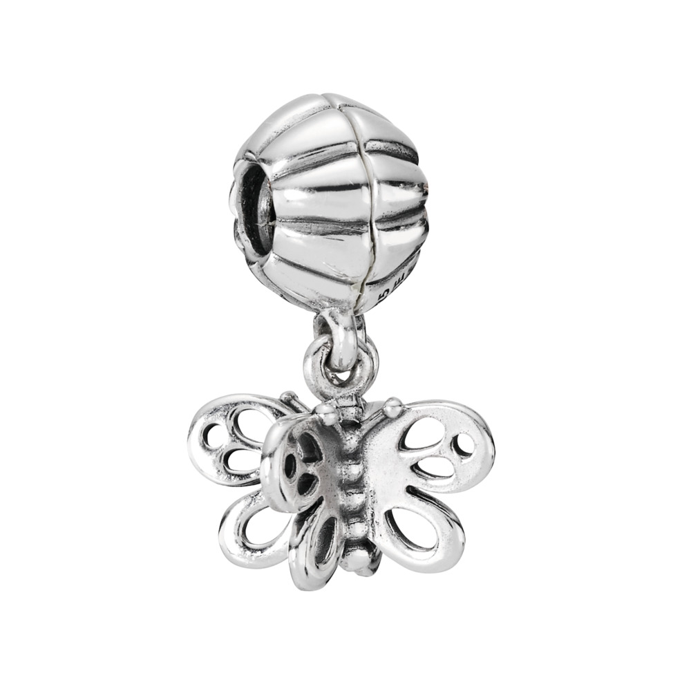 Best Friends Forever Butterfly, Two-Part Charm, Sterling Silver Oxidised - PANDORA - #790531