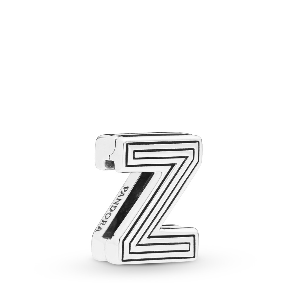 Pandora Reflexions™ Letter Z Clip Charm, Sterling silver, Silicone - PANDORA - #798222