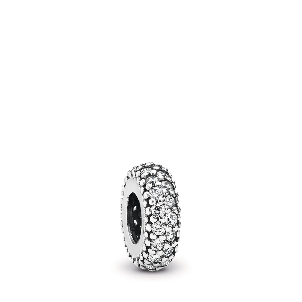 Inspiration Within Spacer, Clear CZ, Sterling silver, Cubic Zirconia - PANDORA - #791359CZ