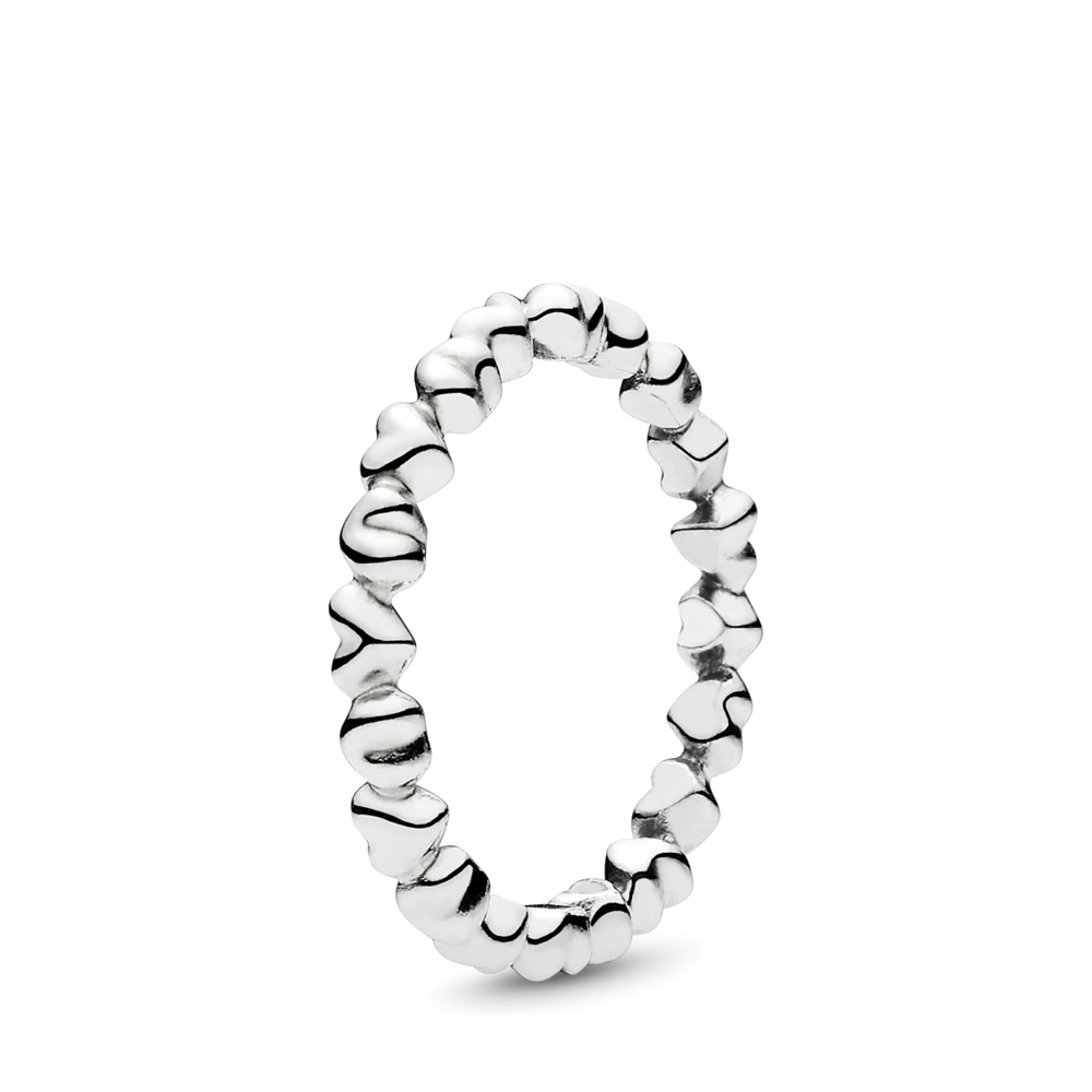 Forever Love Stackable Heart Ring, Sterling silver - PANDORA - #190837