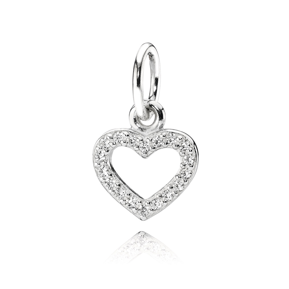 Be My Valentine Pendant, Clear CZ, Sterling silver, Cubic Zirconia - PANDORA - #390325CZ