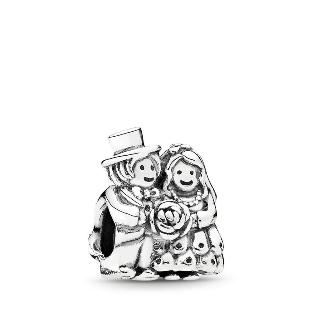 Mr. & Mrs. Charm, Sterling silver - PANDORA - #791116