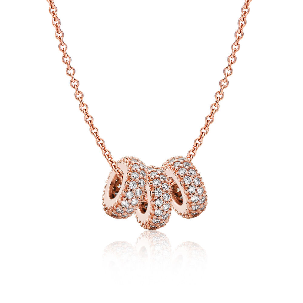 PANDORA Rose™ Pavé Spacer Necklace Set
