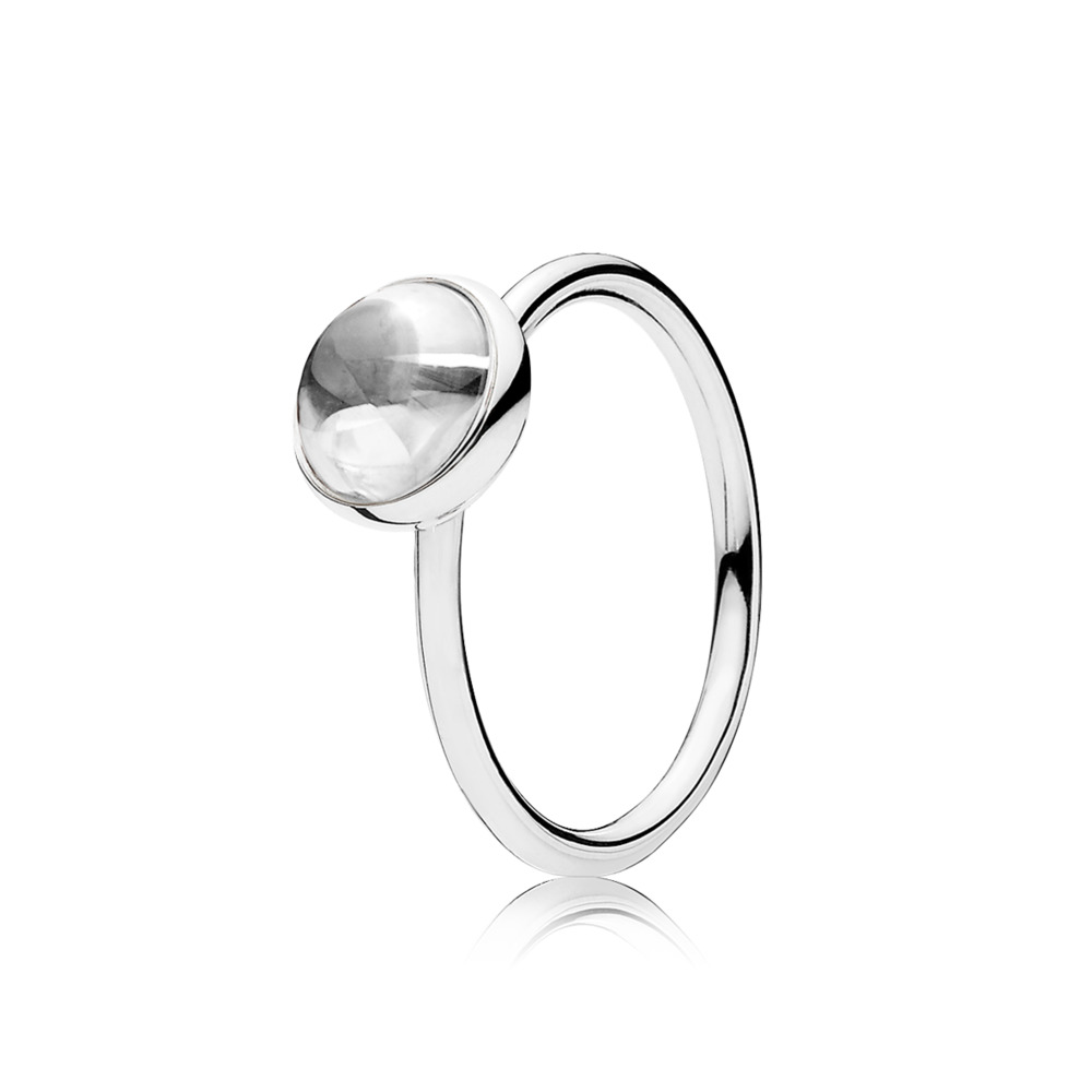 Poetic Droplet Ring, Clear CZ, Sterling silver, Cubic Zirconia - PANDORA - #191027CZ