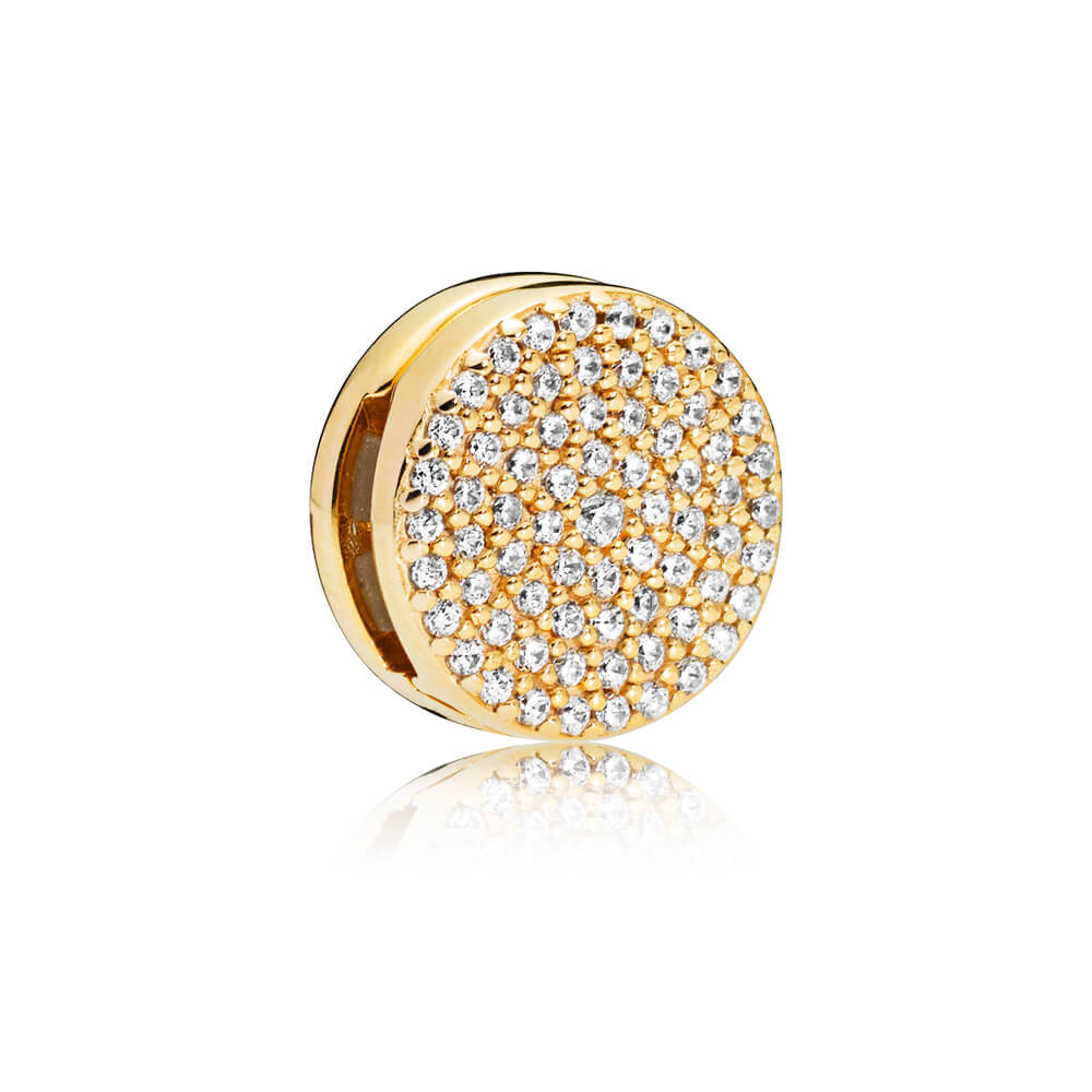 PANDORA Reflexions™ Dazzling Elegance Clip Charm, PANDORA Shine™ & Clear CZ