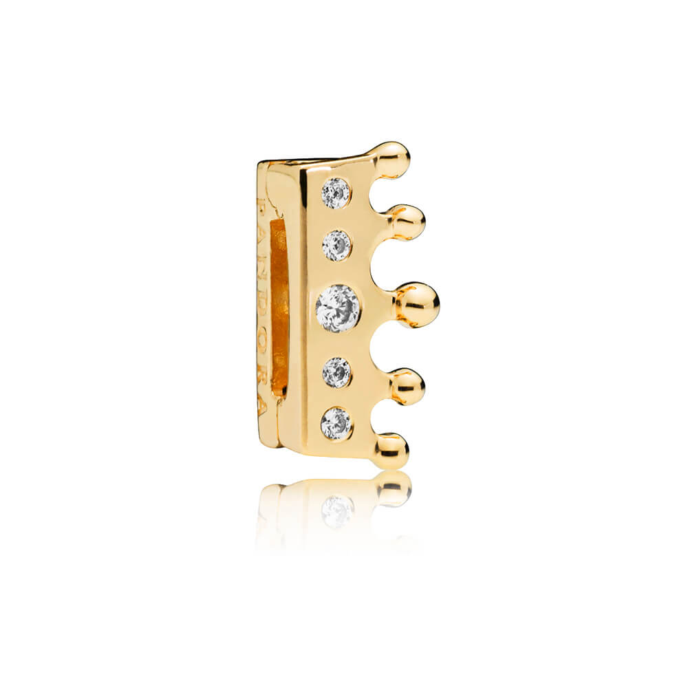 PANDORA Reflexions™ Crown Clip Charm, PANDORA Shine™ & Clear CZ