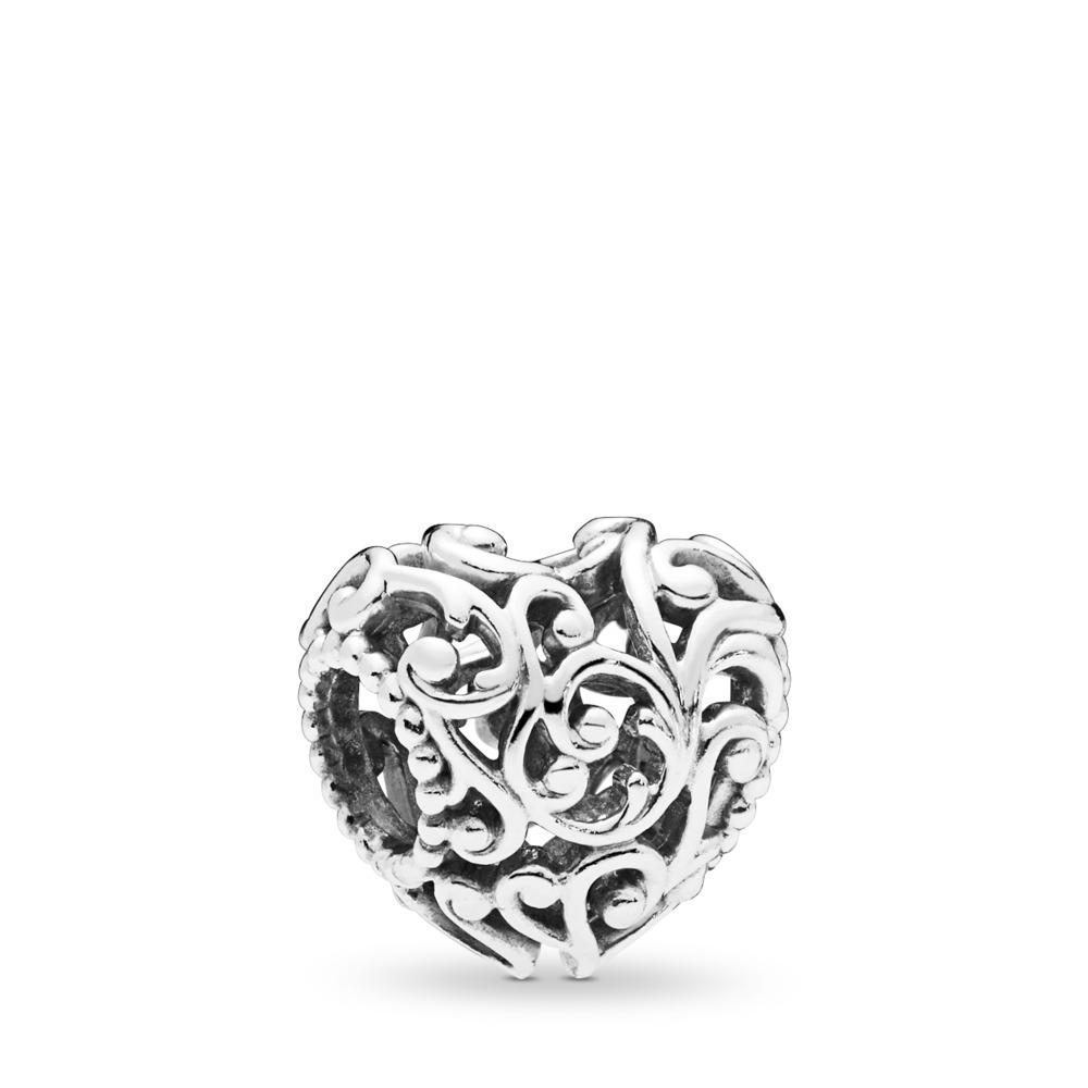 Regal Heart Charm, Sterling silver - PANDORA - #797672