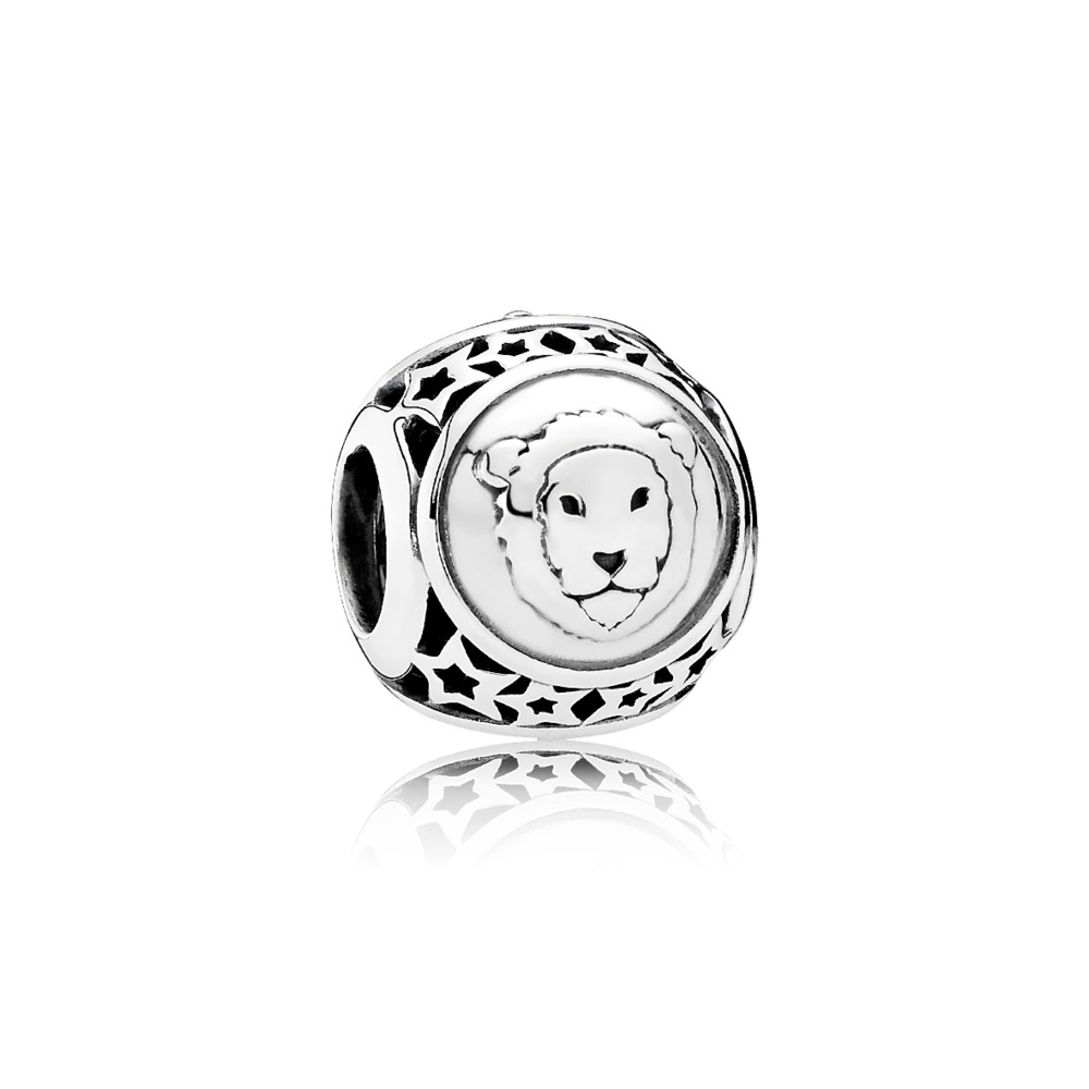 Leo Star Sign Charm, Sterling silver - PANDORA - #791940