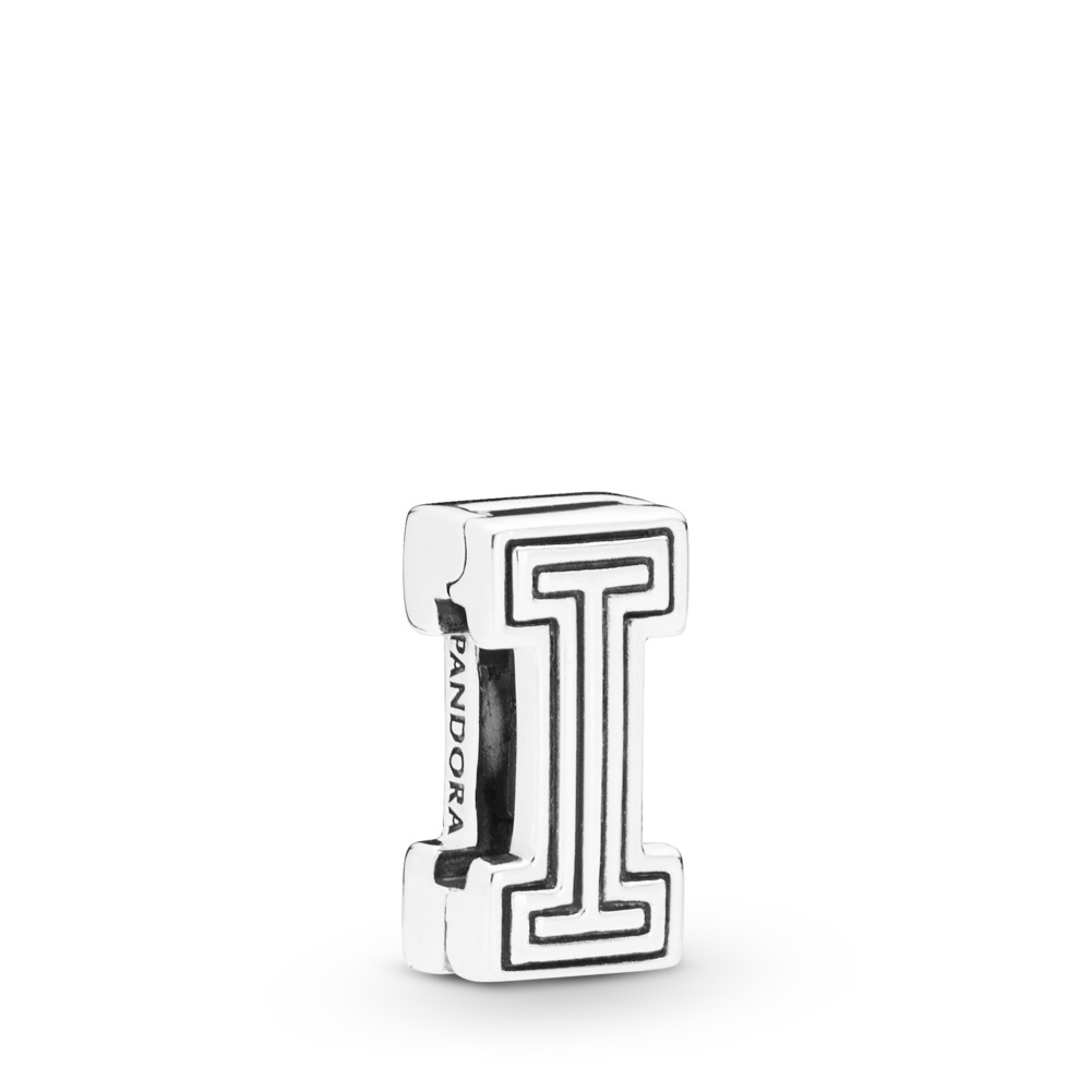 Pandora Reflexions™ Letter I Clip Charm, Sterling silver, Silicone - PANDORA - #798205