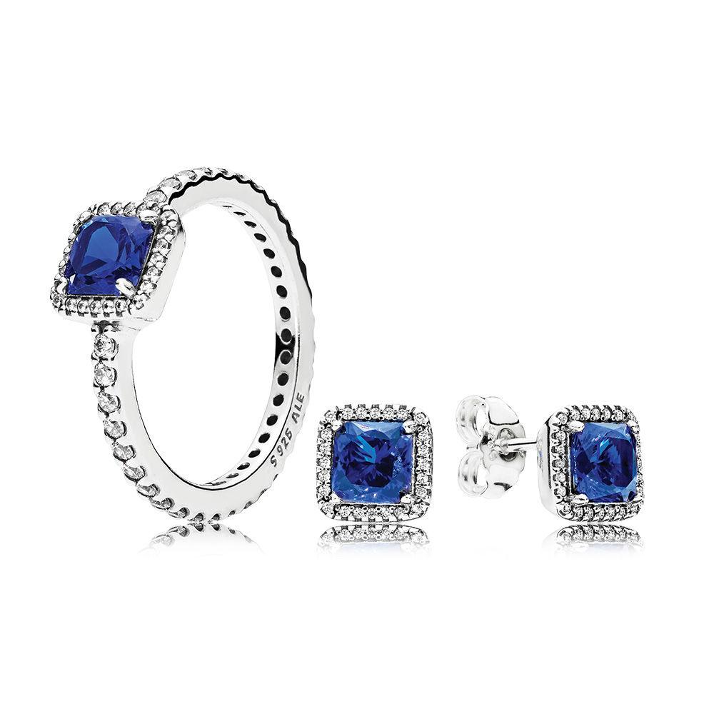 Winter Blue Jewelry Set