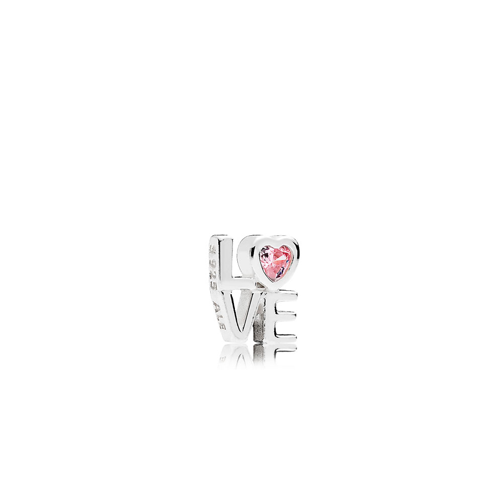 Pink LOVE Petite Locket Charm