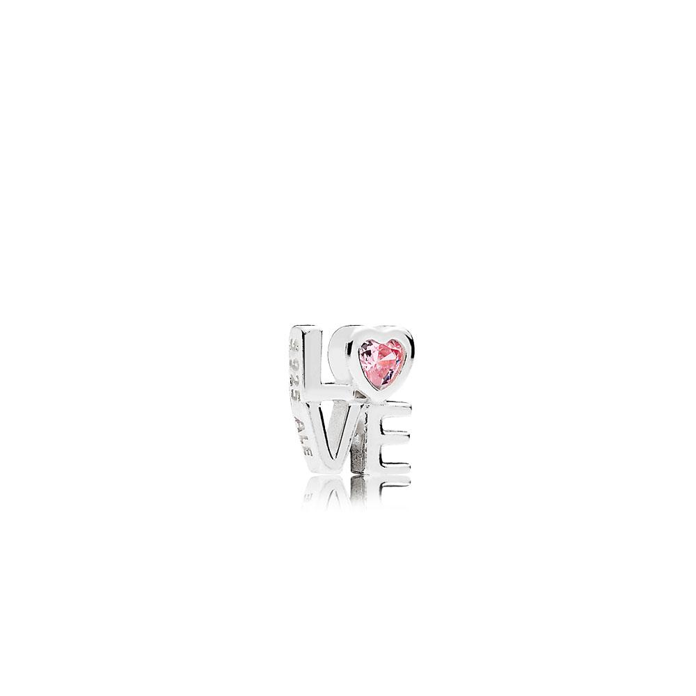 Pink LOVE Petite Locket Charm