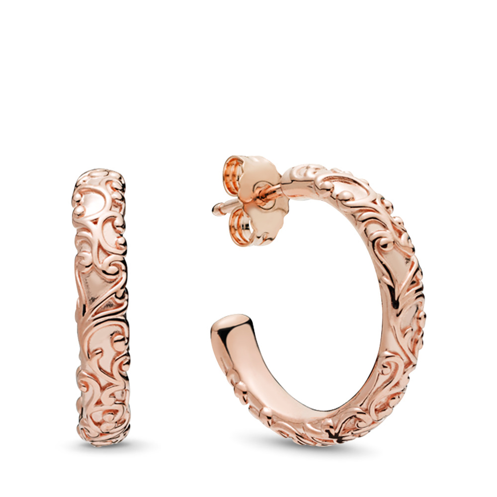Regal Beauty Hoop Earrings, PANDORA Rose™, PANDORA Rose - PANDORA - #287732