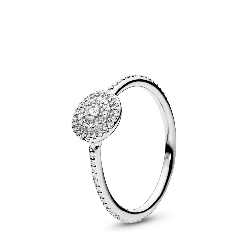 Radiant Elegance Ring, Clear CZ, Sterling silver, Cubic Zirconia - PANDORA - #190986CZ