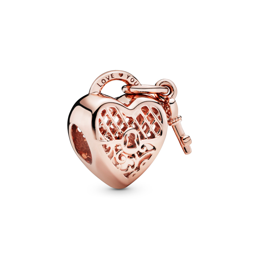 Love You Lock Charm, PANDORA Rose™, PANDORA Rose - PANDORA - #787655