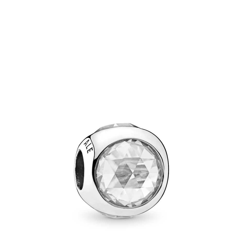 Radiant Droplet Charm, Clear CZ, Sterling silver, Cubic Zirconia - PANDORA - #792095CZ