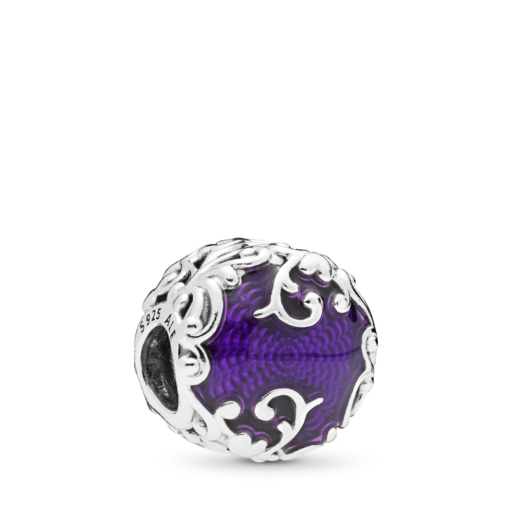 Regal Beauty Charm, Purple Enamel, Sterling silver, Enamel, Purple - PANDORA - #797607EN13