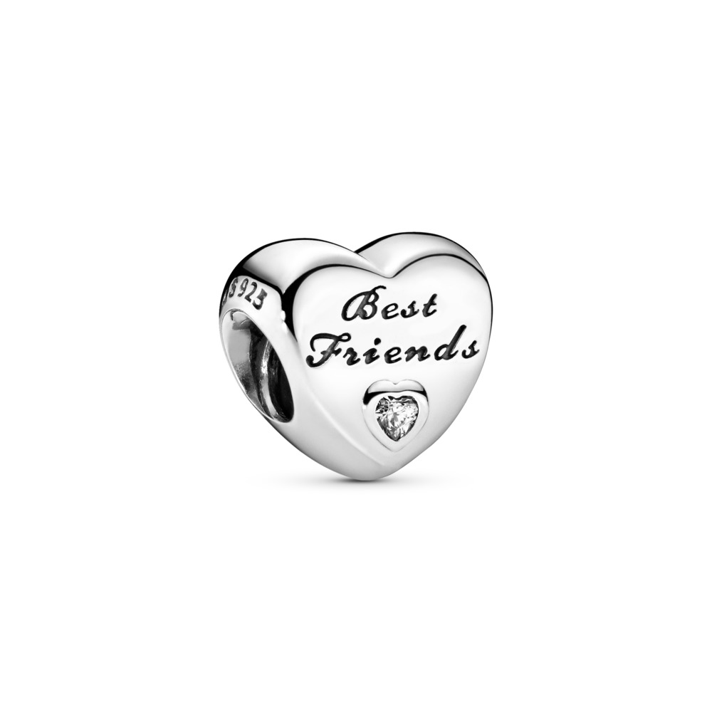 Friendship Heart, Clear CZ, Sterling silver, Cubic Zirconia - PANDORA - #791727CZ