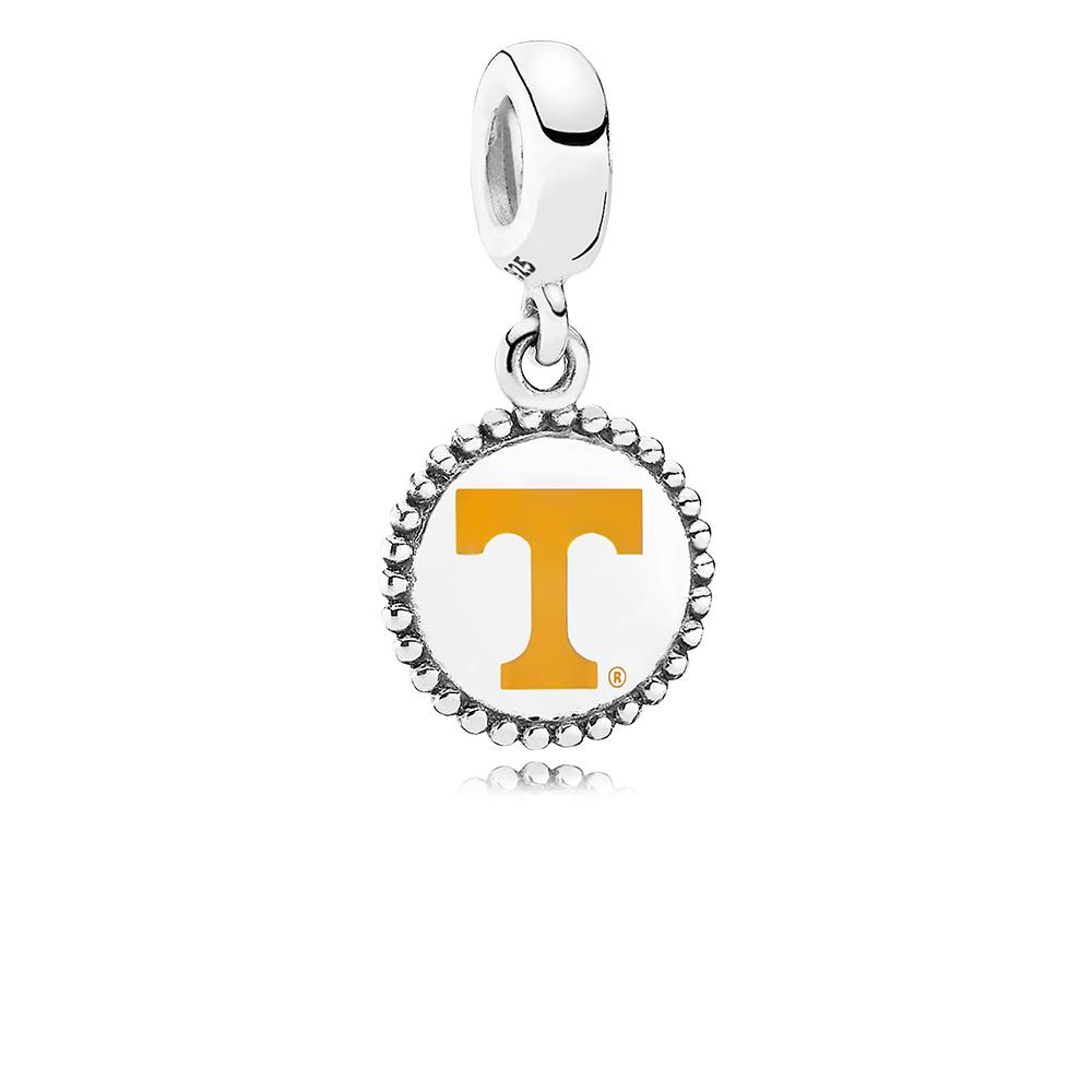 University of Tennessee Knoxville Dangle Charm, Orange Enamel