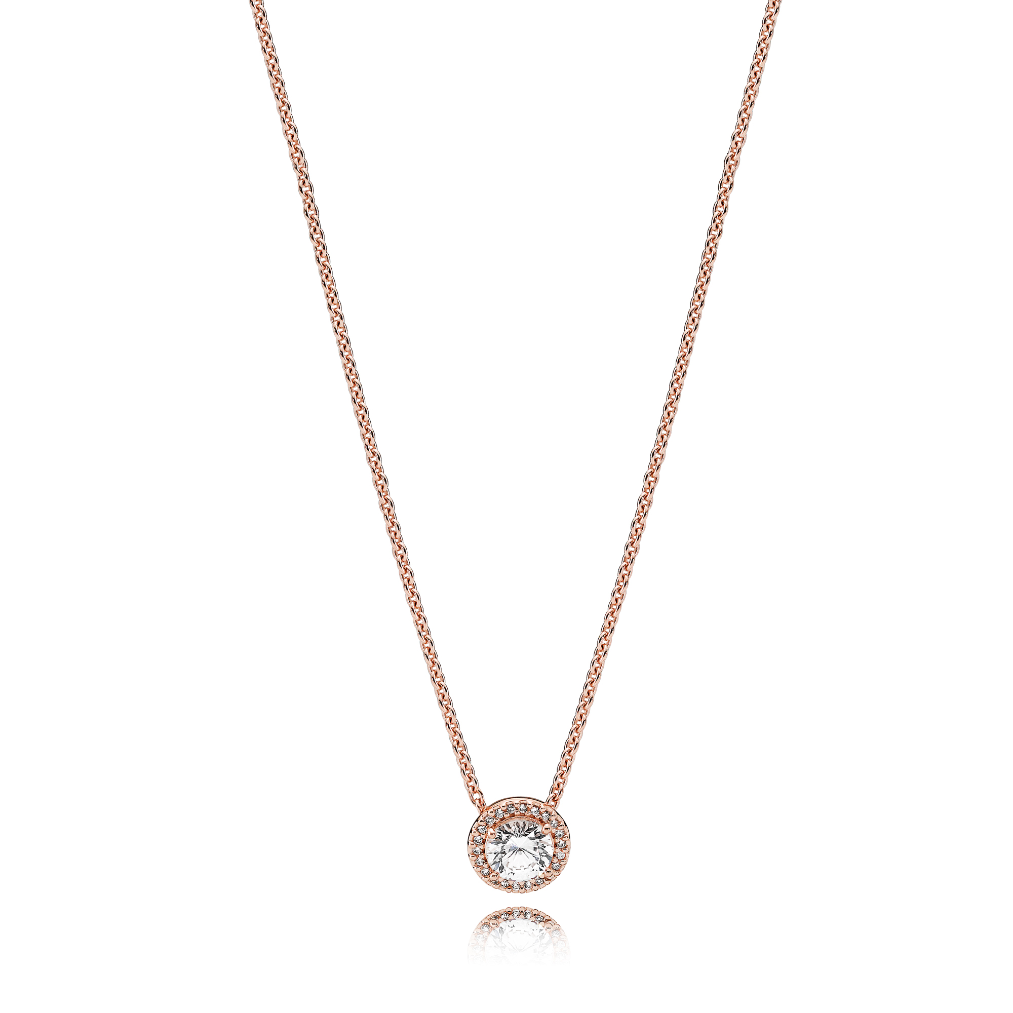 Classic Elegance Necklace, PANDORA Rose™ & Clear CZ