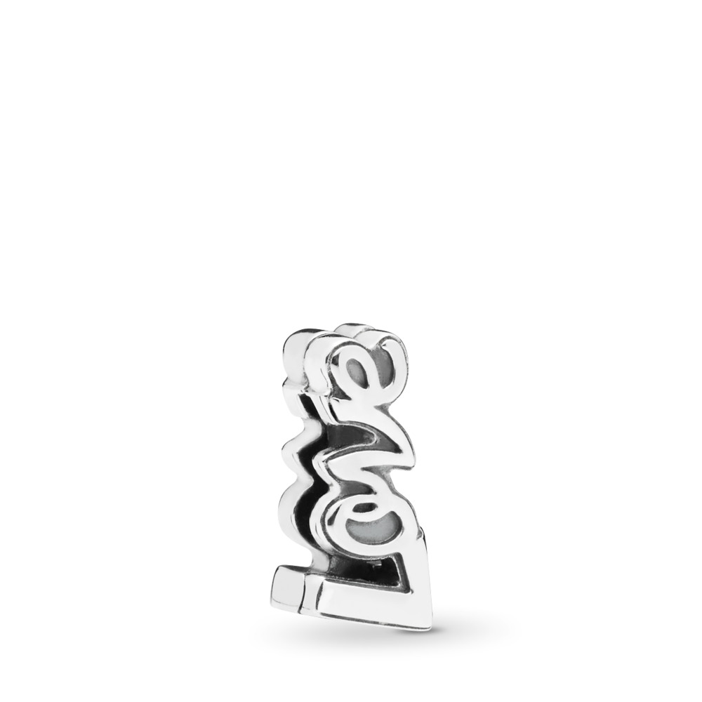 PANDORA Reflexions™ Love Clip Charm, Sterling silver, Silicone - PANDORA - #797579